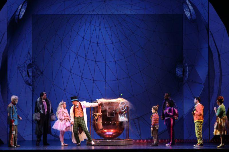 Veruca Salt confronts Willie Wonka in his own factory.