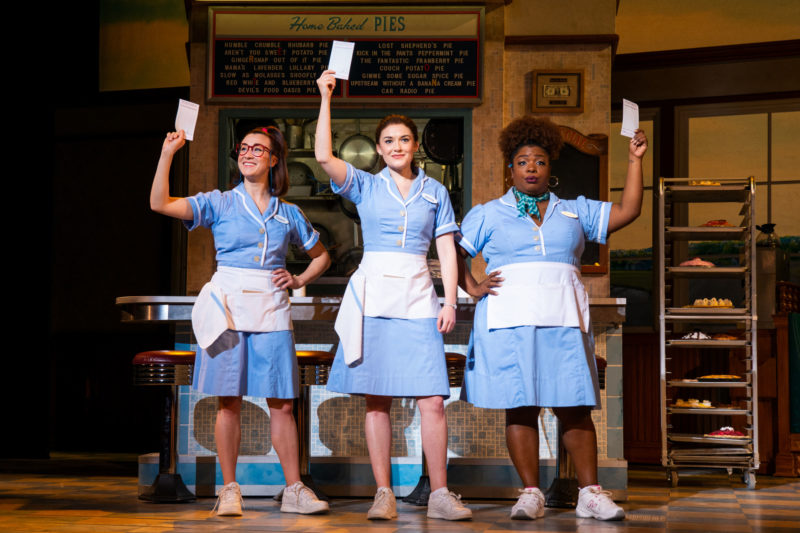 Jessie Shelton, Christine Dwyer and Maiesha McQueen in the National Tour of Waitress Credit Philicia Endelman