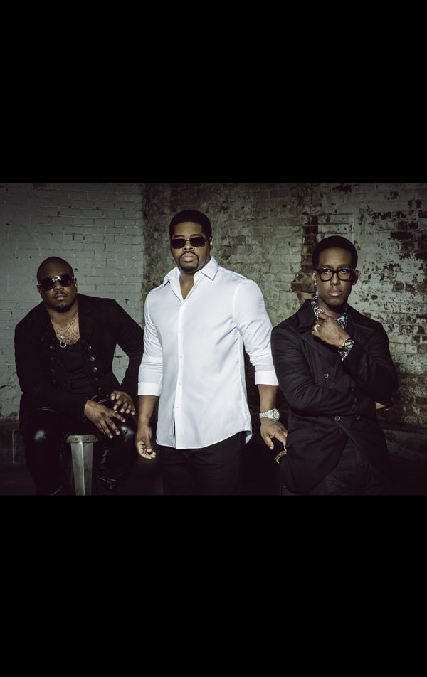 boyz II men - 3 men dressed in black and white with sunglasses