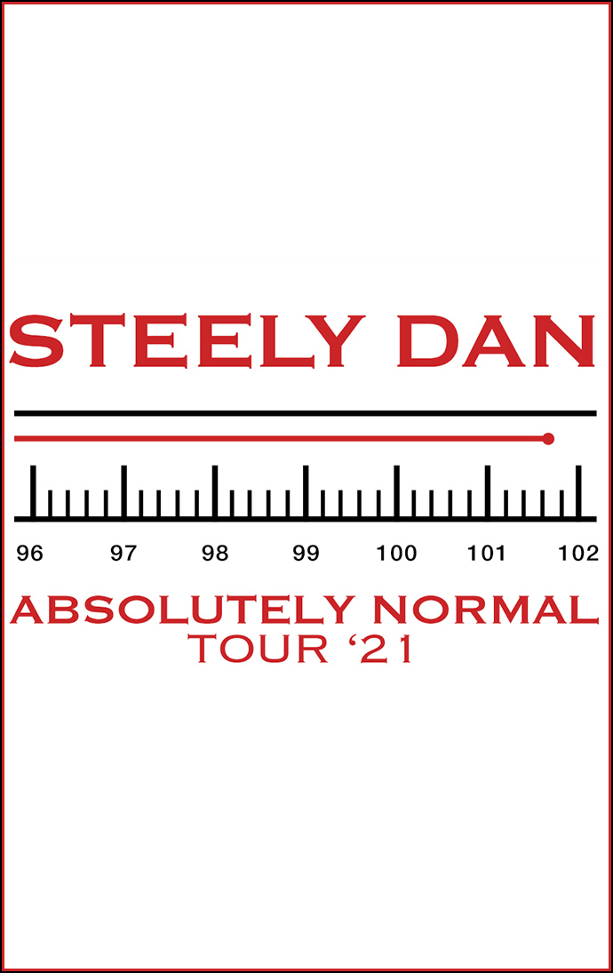 Steely Dan Absolutely Normal Tour '21 artwork