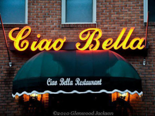 Front of Ciao Bella Restaurant