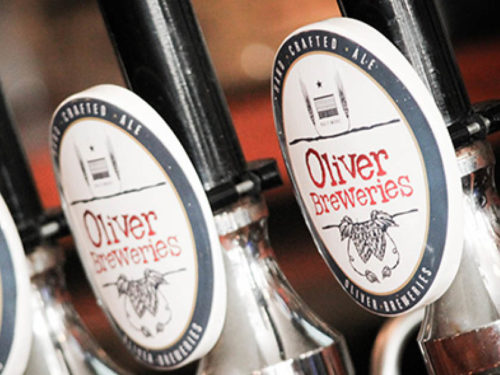 Oliver Breweries on tap