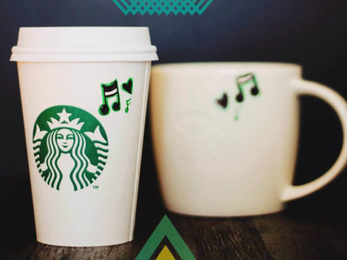 Starbucks coffee mug and to-go cup