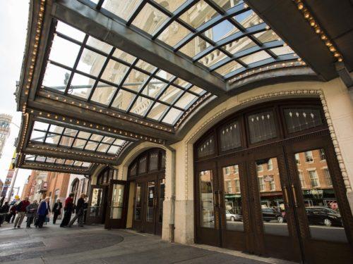 Front doors of Hippodrome Theatre